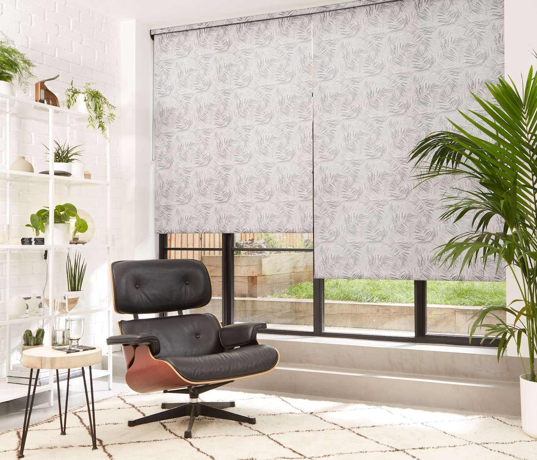 Hothouse Black Roller Blind Designer Window Blinds Direct