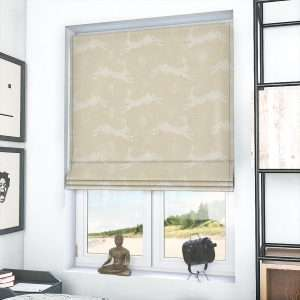 Country Hares Natural Roman Blind