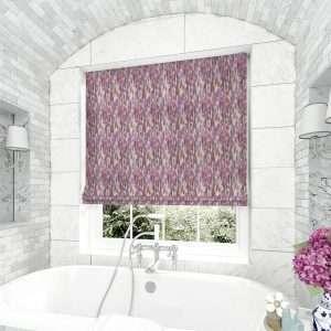 Fresco Purple Roman Blind