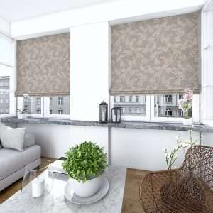 Lacey Charcoal Roman Blind