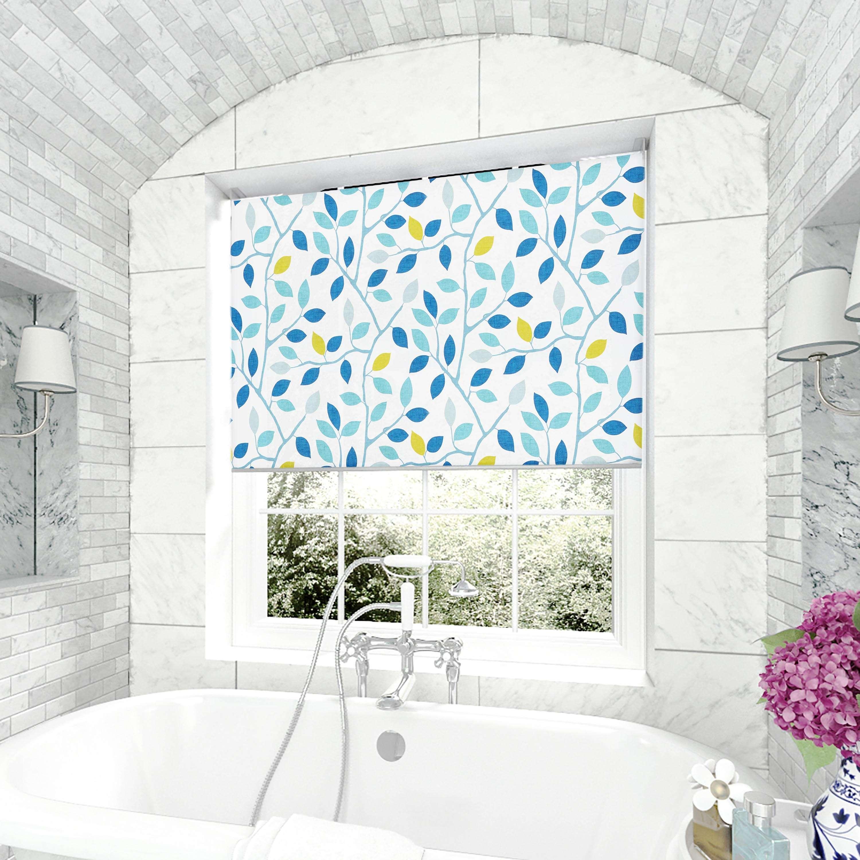 Maren Teal Roller Blind Designer Window Blinds Direct