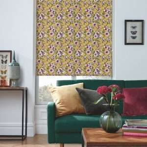 Wildflower Canary Roller Blind