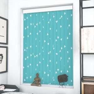 Louvolite Pico Turquoise Vertical Blind