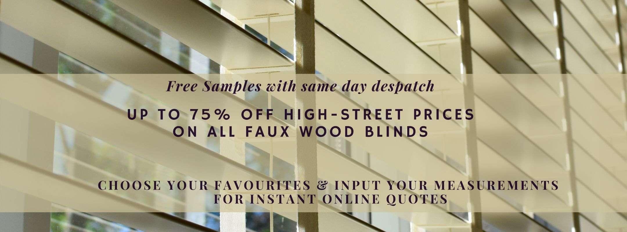 Faux Wood Blinds at Blindz Online