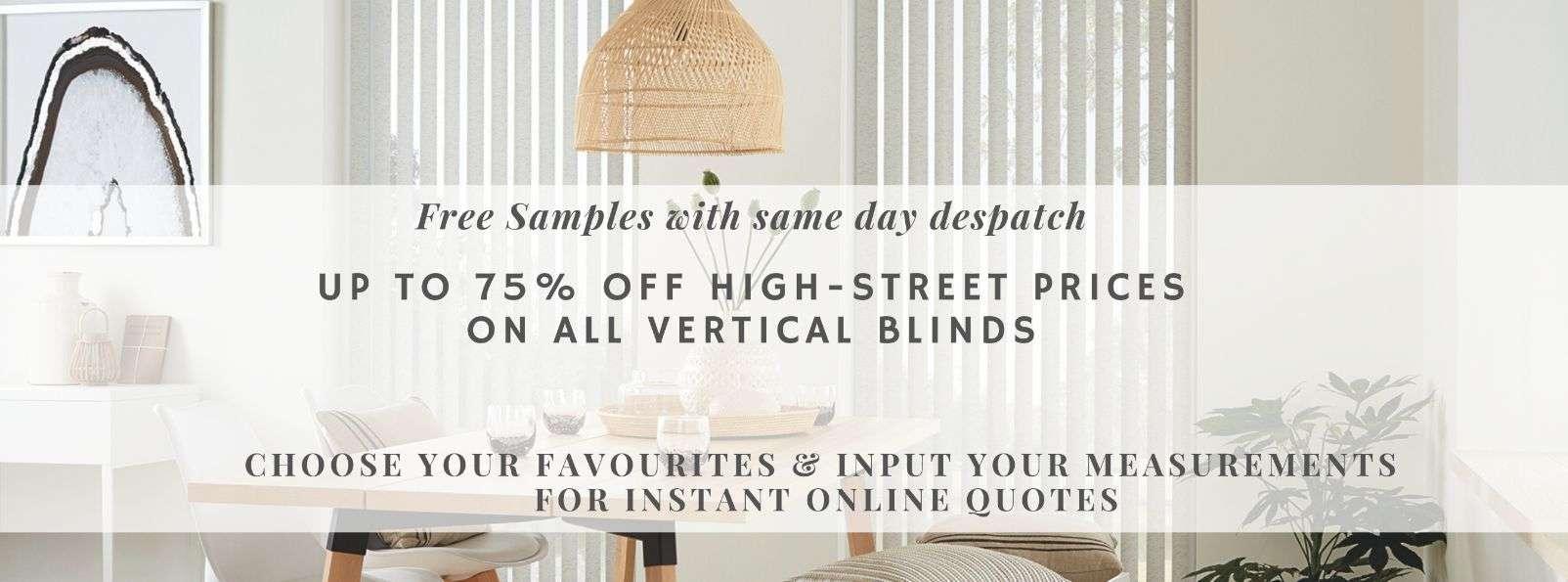 Vertical Blinds at Blindz Online