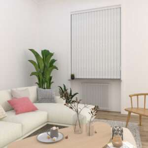 Cameo White Vertical Blind
